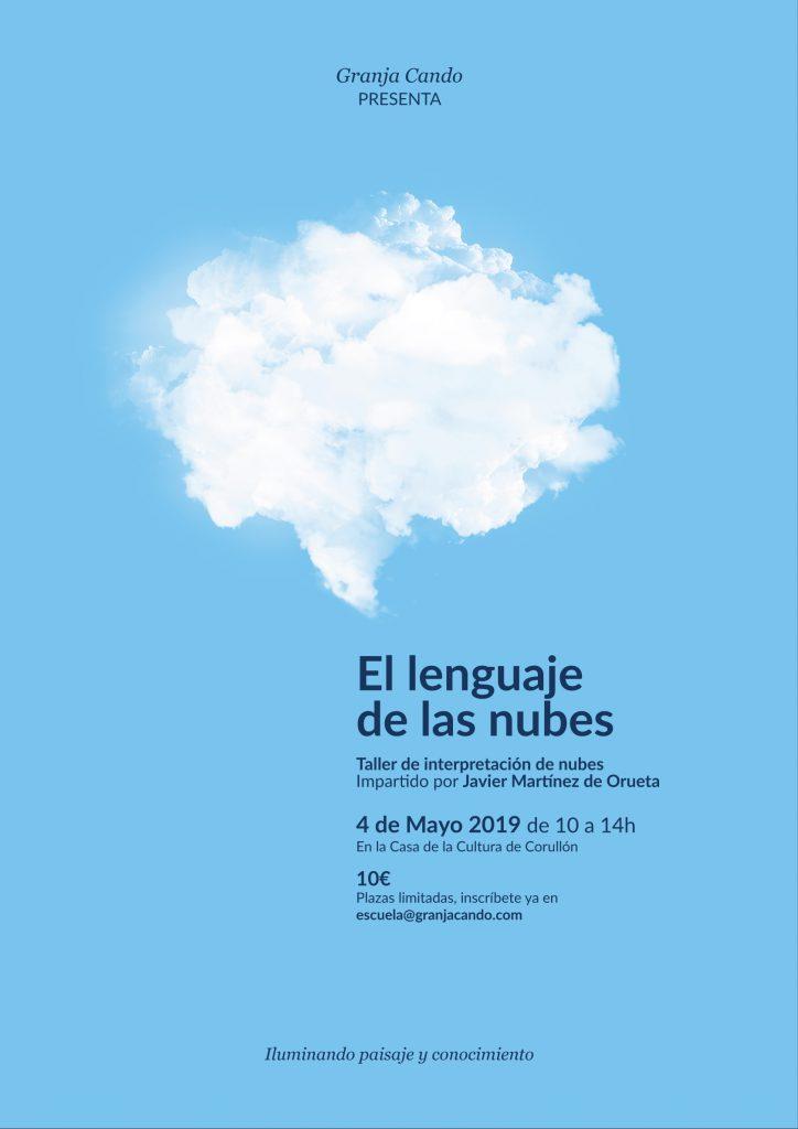 Cartel taller el lenguaje de las nubes de Javier Martínez de Orueta